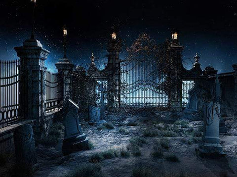 Katebackdrop:Kate Night Scene Grave Backdrop Light Photo Background