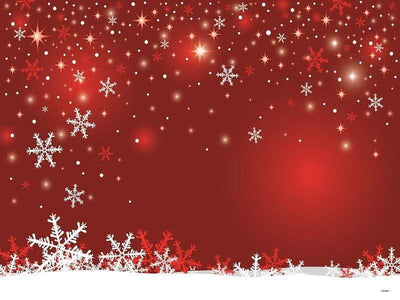Kate Red Wall Background Snowflake Marry Christmas Backdrops
