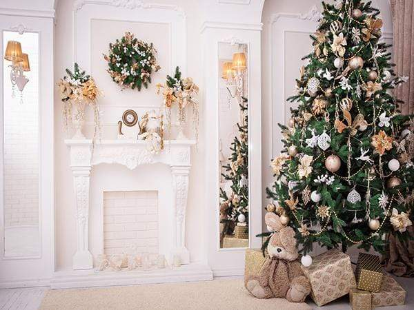 Load image into Gallery viewer, Katebackdrop£ºKate Christmas Tree Decoration Fireplace Backdrop Studio Props
