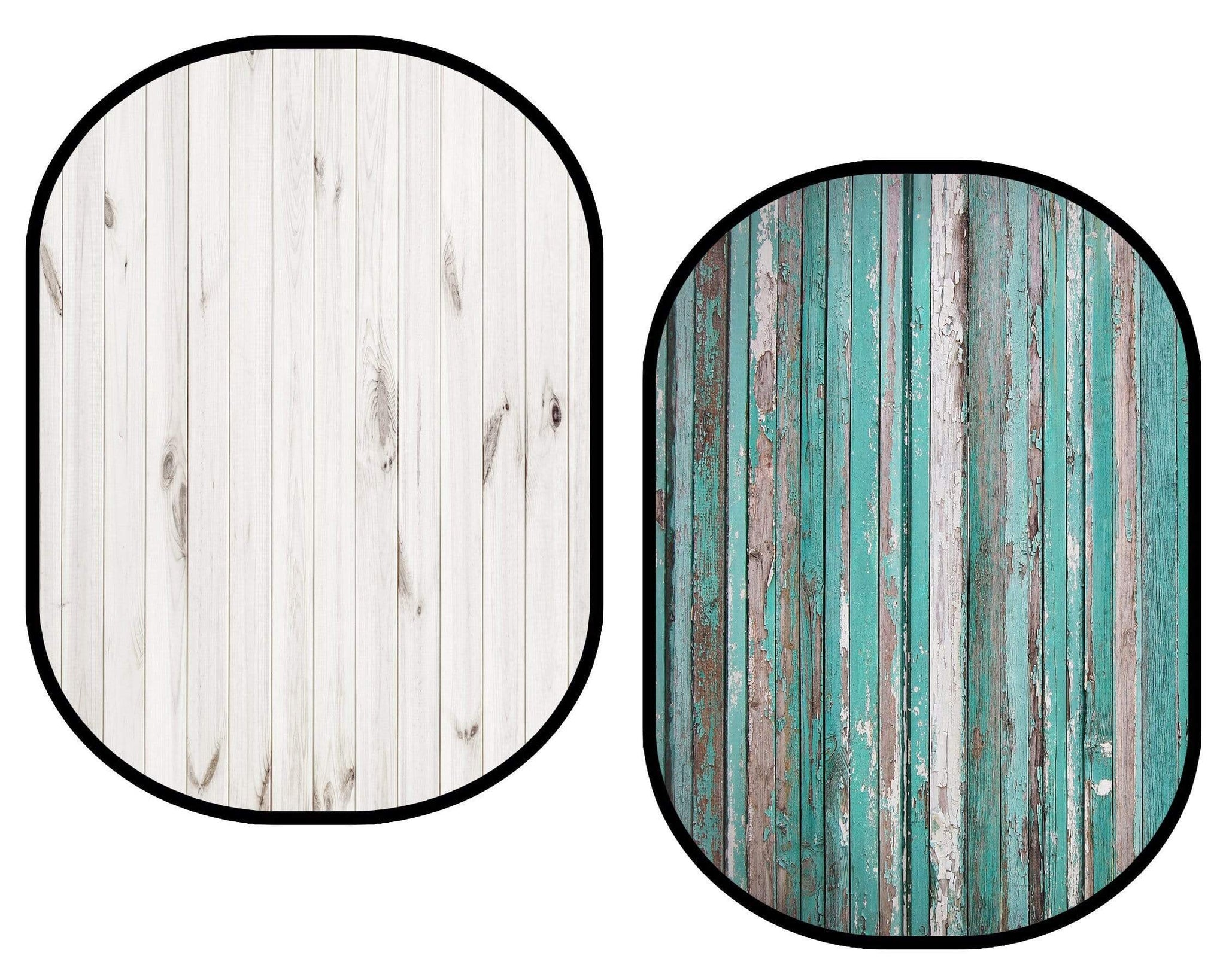 Load image into Gallery viewer, Katebackdrop£ºKate White Wood / Dark Blue Green Retro Wood Collapsible Backdrop Photography 5X6.5ft(1.5x2m)