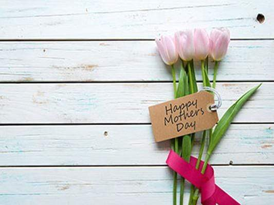 Katebackdrop:Kate White Wooden Wall Tulip Floral Happy Mother'S Day