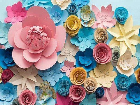 Katebackdrop:Kate Colored 3D Flower Backdrop Diy Floral Background