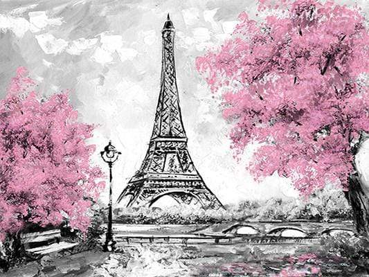 Load image into Gallery viewer, Katebackdrop:Kate Red Florals Tree Hand Painting Children Backdrop Eiffel Tower Paris