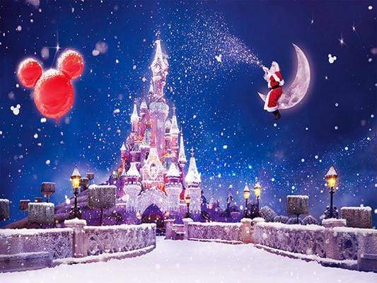Load image into Gallery viewer, Katebackdrop:Kate Christmas Castle Santa Photo Backdrop For Chilren Photography