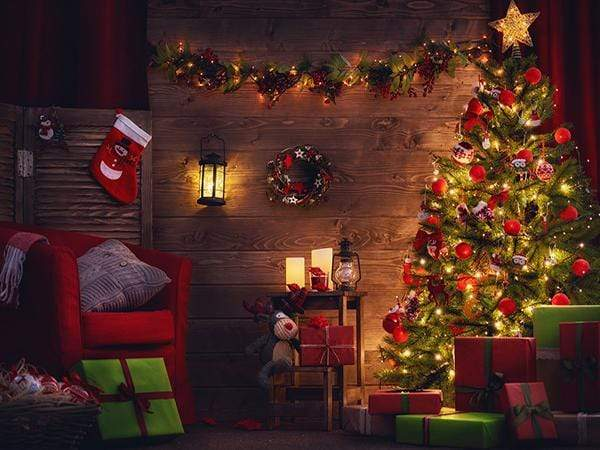 Load image into Gallery viewer, Katebackdrop:Kate santa's workshop Light Christmas Backdrop