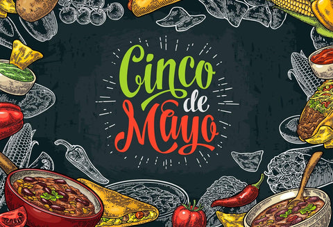 Katebackdrop:Kate May 5 Mexico Carnival Backdrop Cinco De Mayo Party Photography Background Customized