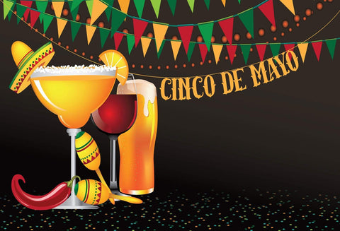 Katebackdrop:Kate May 5 Mexican Carnival Backdrops for Cinco De Mayo Party Photography Background