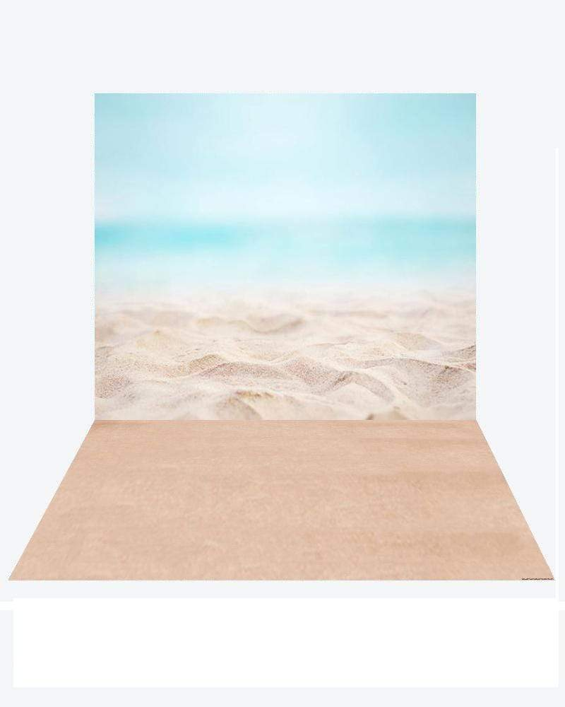 Katebackdrop:Kate Pacific Ocean Summer backdrop + Soft Sea Rubber floor mat
