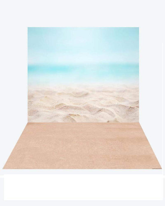 Katebackdrop¡êoKate Pacific Ocean Summer backdrop + Soft Sea Rubber floor mat
