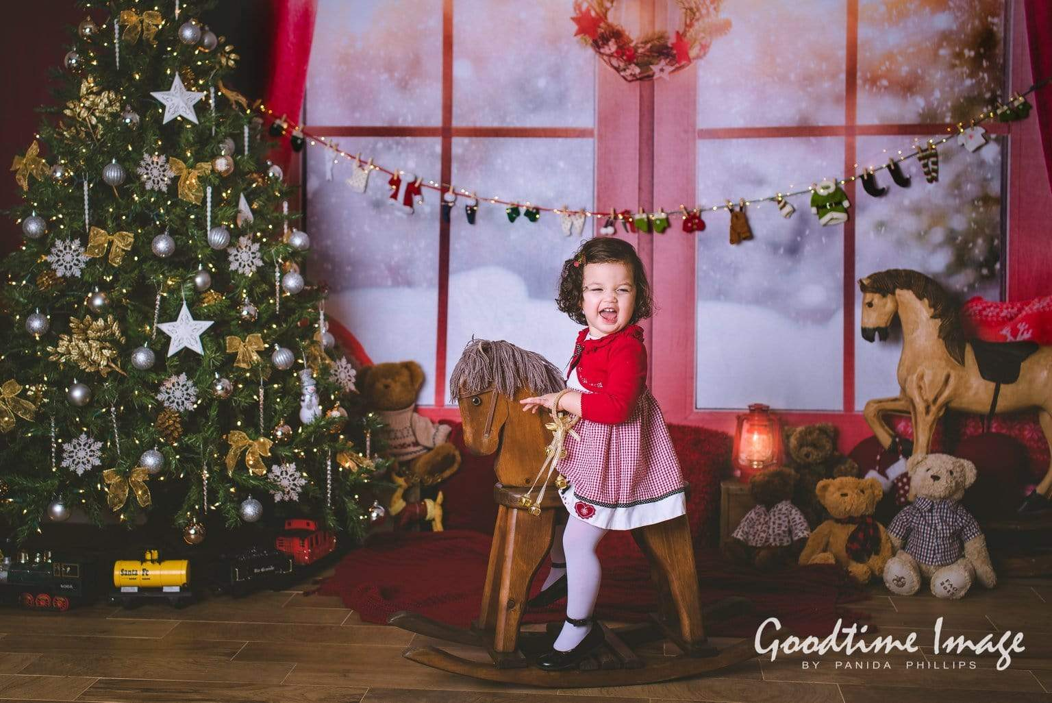 Load image into Gallery viewer, Katebackdrop£ºKate Christmas Snow And Sunshine Outside Window Backdrops for Photography