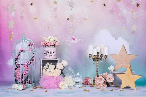 Kate Fantastic Cake smash birthday Backdrop for Photography designed by Studio Gumot