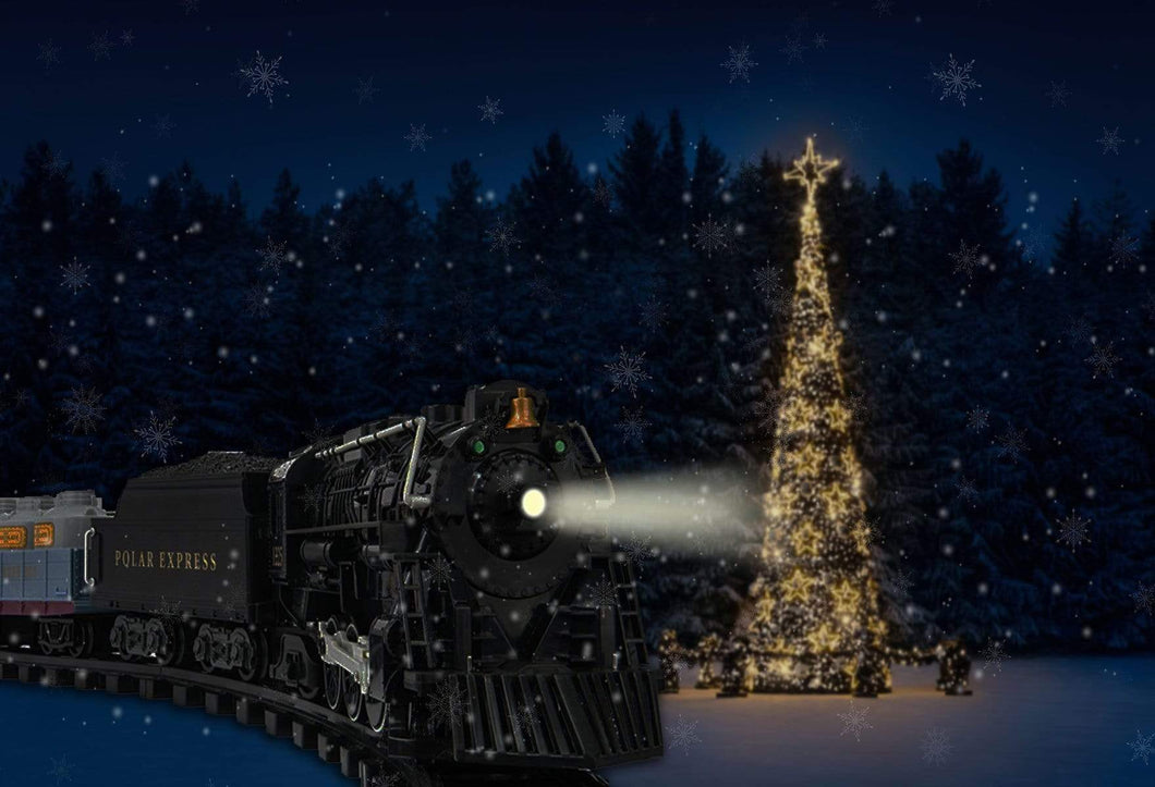 Katebackdrop£ºKate Train Christmas Tree Winter Backdrop for Photography designed by Jerry_Sina
