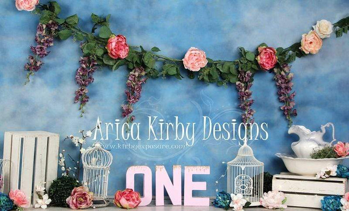Katebackdrop£ºKate 1st Birthday Floral Garden Backdrops print with ONE Designed by Arica Kirby