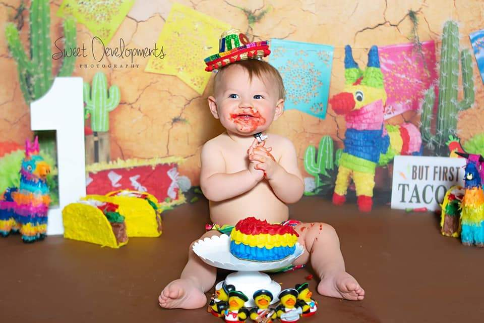 Load image into Gallery viewer, Kate Children Playground Fiesta Theme for Cinco de Mayo Party Backdrop