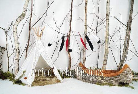 Kate Children Blissfully Birchbark Backdrop for Photography designed by Arica Kirby