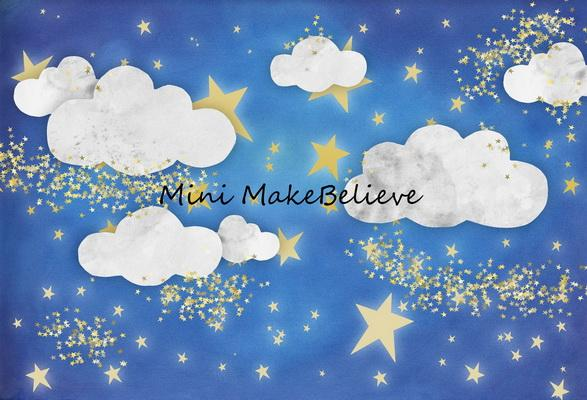 Katebackdrop£ºKate Baby Skies Clouds With Tiny Stars Backdrop for Photography Designed by Mini MakeBelieve