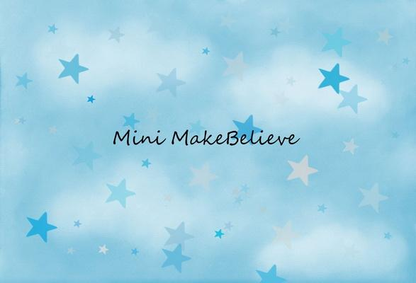 Load image into Gallery viewer, Katebackdrop£ºKate Soft Skies Blue Stars Backdrop Designed by Mini MakeBelieve