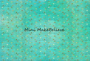Katebackdrop£ºKate Baby Shower Blue Green Golden Ripples Backdrop for Photography Designed by Mini MakeBelieve