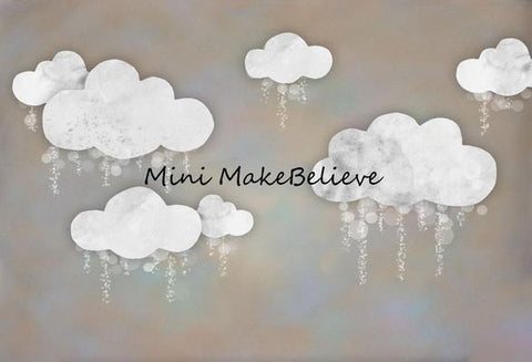 Kate Baby Shower Take Flight Winter Clouds Backdrop for Photography Designed by Mini MakeBelieve