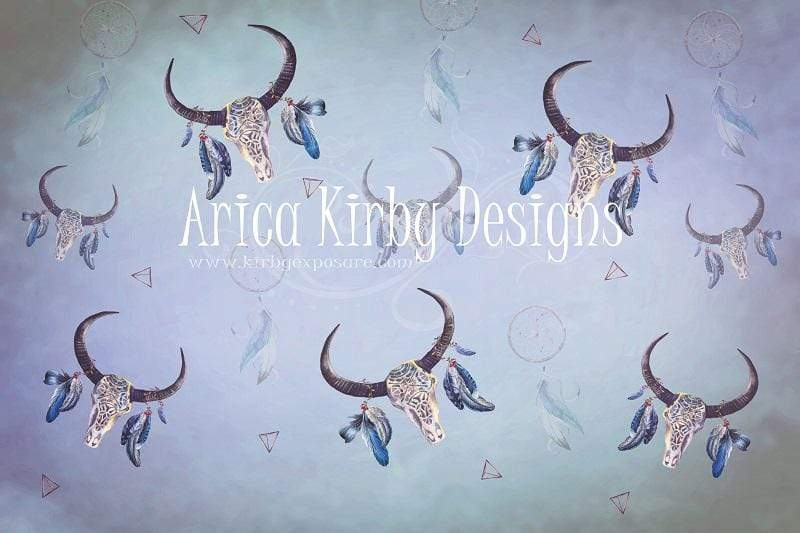 Katebackdrop£ºKate Buffalo Skull Blues Backdrop designed by Arica Kirby