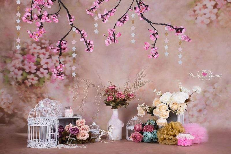 Load image into Gallery viewer, Kate floral antique pink for cake smash backdrop designed by Studio Gumot