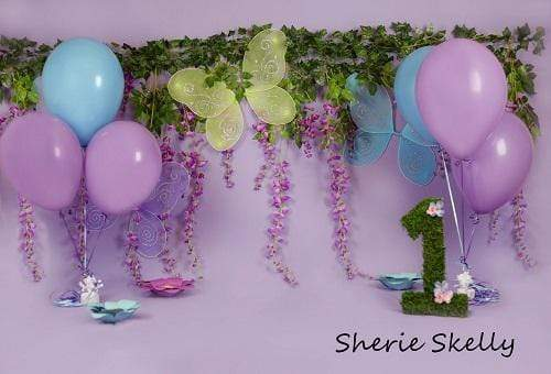 Kate Fairy Garden Birthday Children Backdrop for Photography Designed by Sherie Skelly