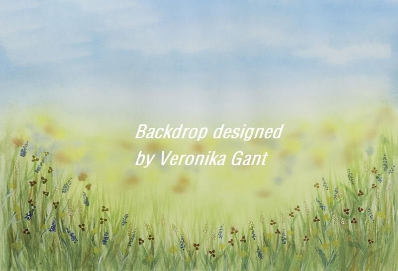 Katebackdrop:Kate Spring painting Backdrop designed by Veronika Gant