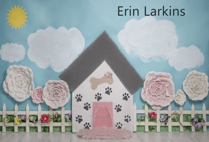 Katebackdrop£ºKate Pet Park Railing with flowers Spring Children Backdrop for Photography Designed by Erin Larkins