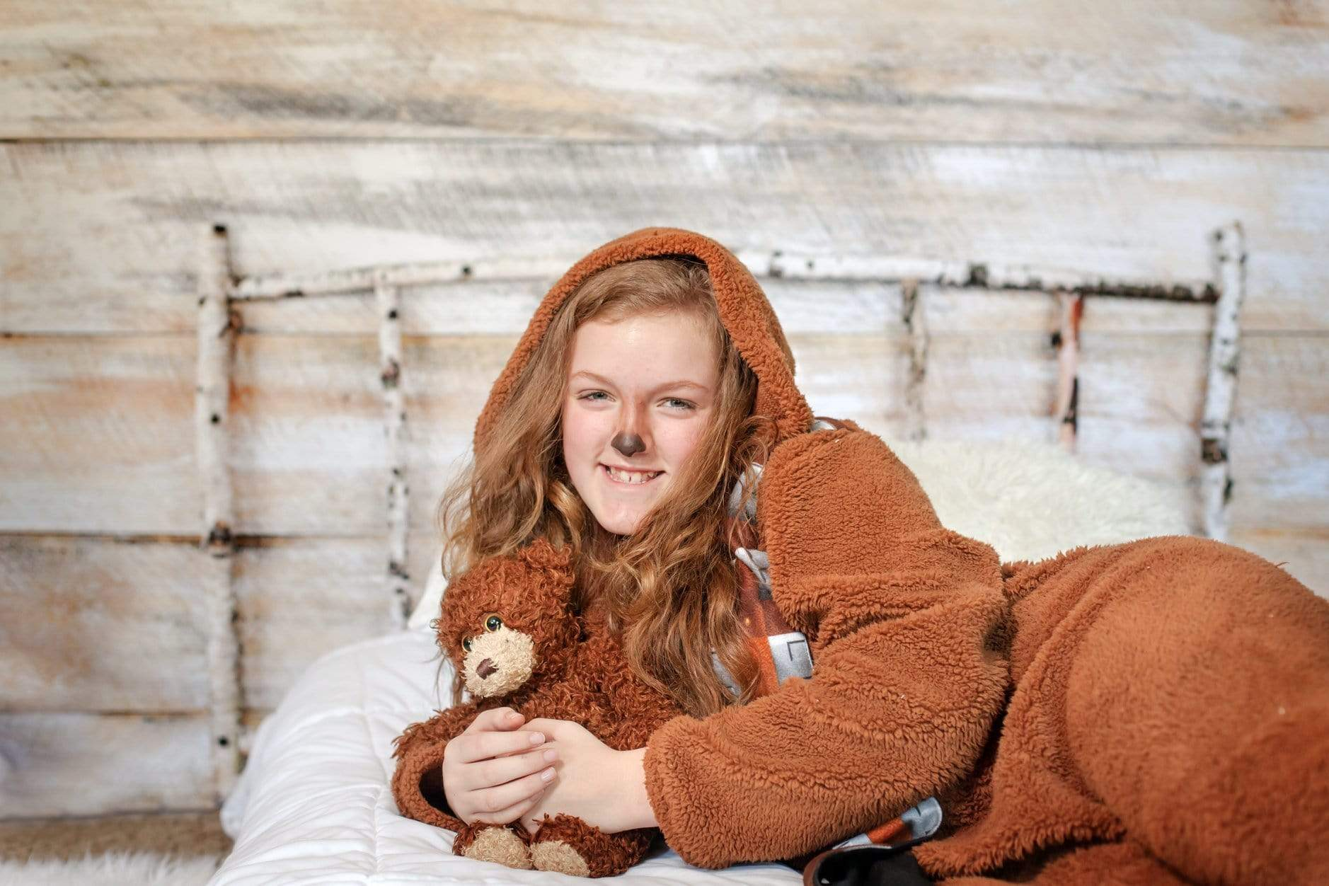 Load image into Gallery viewer, Katebackdrop:Kate Christmas Wood Wall Birch bed Simple Backdrop designed by Arica Kirby