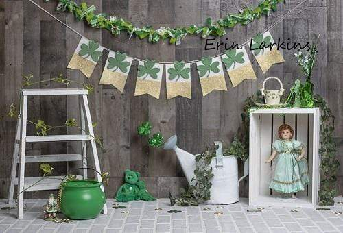 Load image into Gallery viewer, Katebackdrop£ºKate Wood Wall with Banners St.Patrick's Day Backdrop for Photography Designed by Erin Larkins