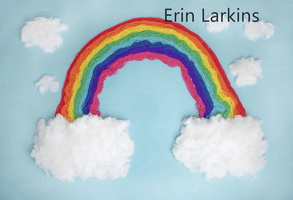 Katebackdrop£ºKate Blue Background with Rainbow Children Backdrop for Photography Designed by Erin Larkins