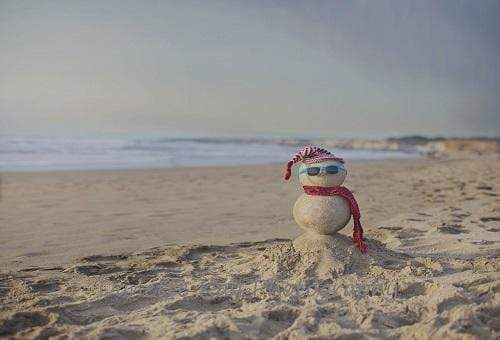 Katebackdrop:Kate Summer Snowman Beach Backdrop for Photography Designed by Danette Kay Photography