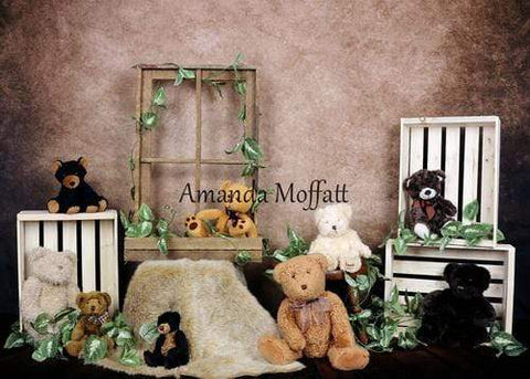 Kate Teddy Bear Picnic Backdrop for Photography Designed by Amanda Moffatt