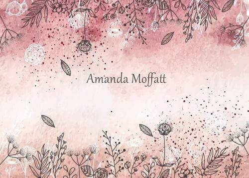 Katebackdrop:Kate Watercolour Wild Flowers Backdrop for Photography Designed by Amanda Moffatt