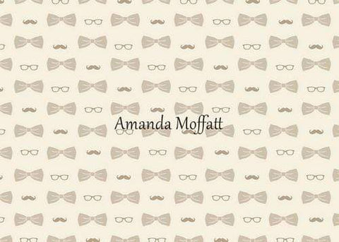 Kate Bowties for Little Guys in Brown Father's Day Backdrop for Photography Designed by Amanda Moffatt
