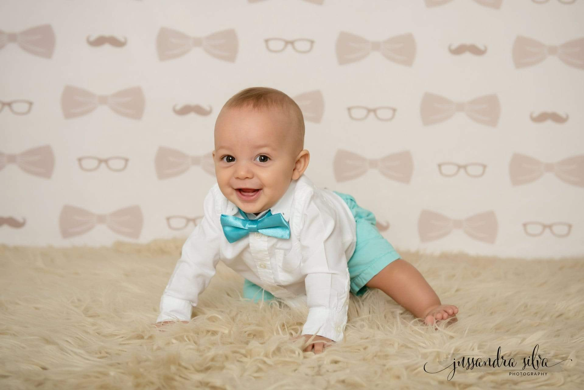 Load image into Gallery viewer, Katebackdrop£ºKate Bowties for Little Guys in Brown Father's Day Backdrop for Photography Designed by Amanda Moffatt