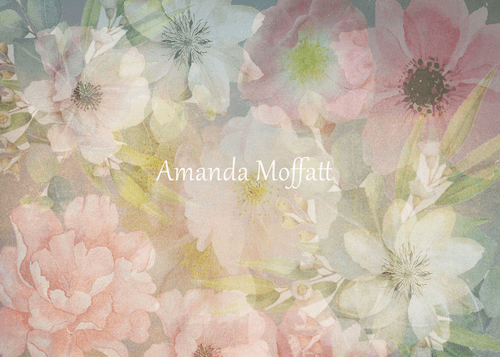 Katebackdrop:Kate Flowers Pastel Florals Backdrop for Photography Designed by Amanda Moffatt