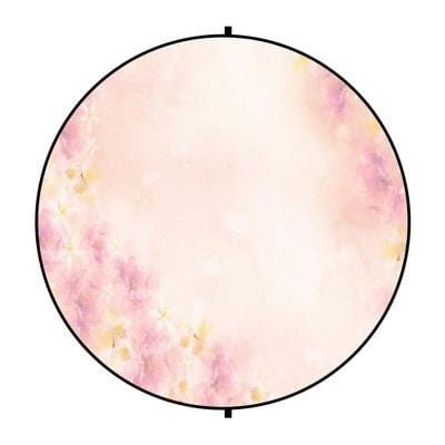 Kate Fine Art Watercolors Pink Flowers Abstract Backdrop designed by Veronika Gant