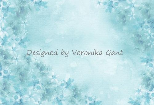 Katebackdrop:Kate Fine Art Watercolors Blue Flowers Abstract Backdrop designed by Veronika Gant