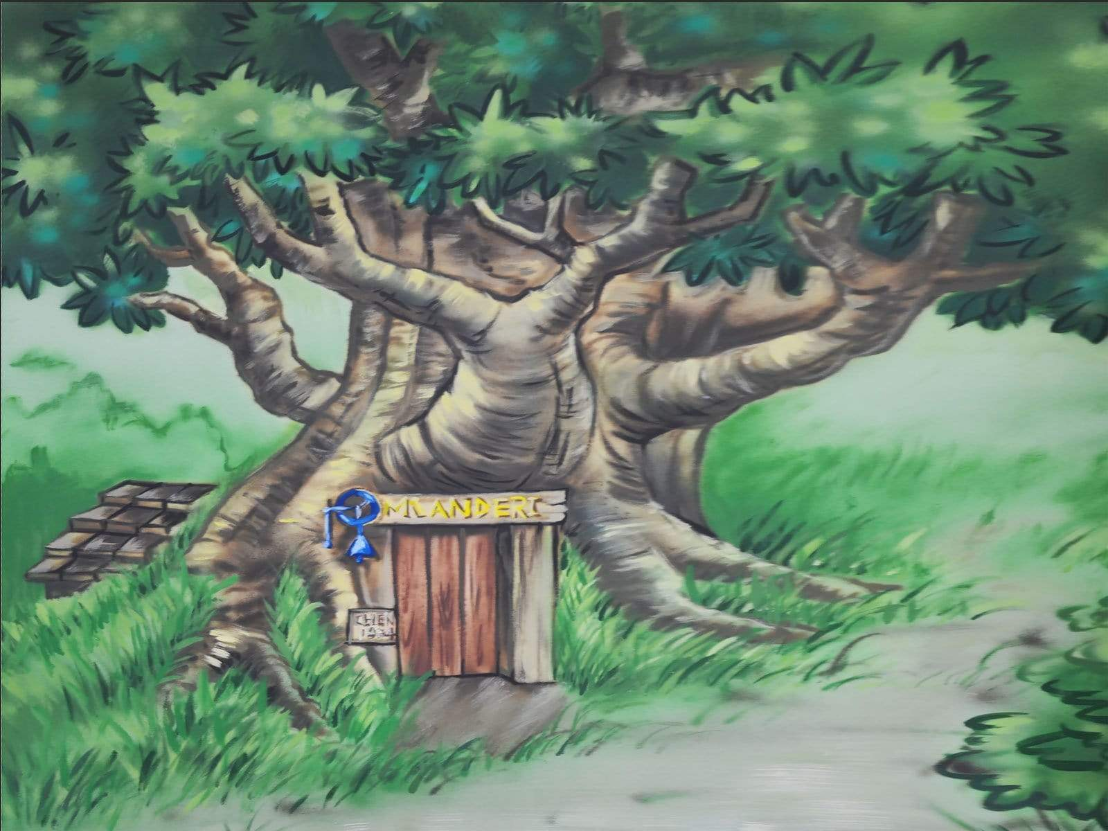 Load image into Gallery viewer, Katebackdrop:Kate Corner Tree House Forest Backdrop designed by Jerry_Sina