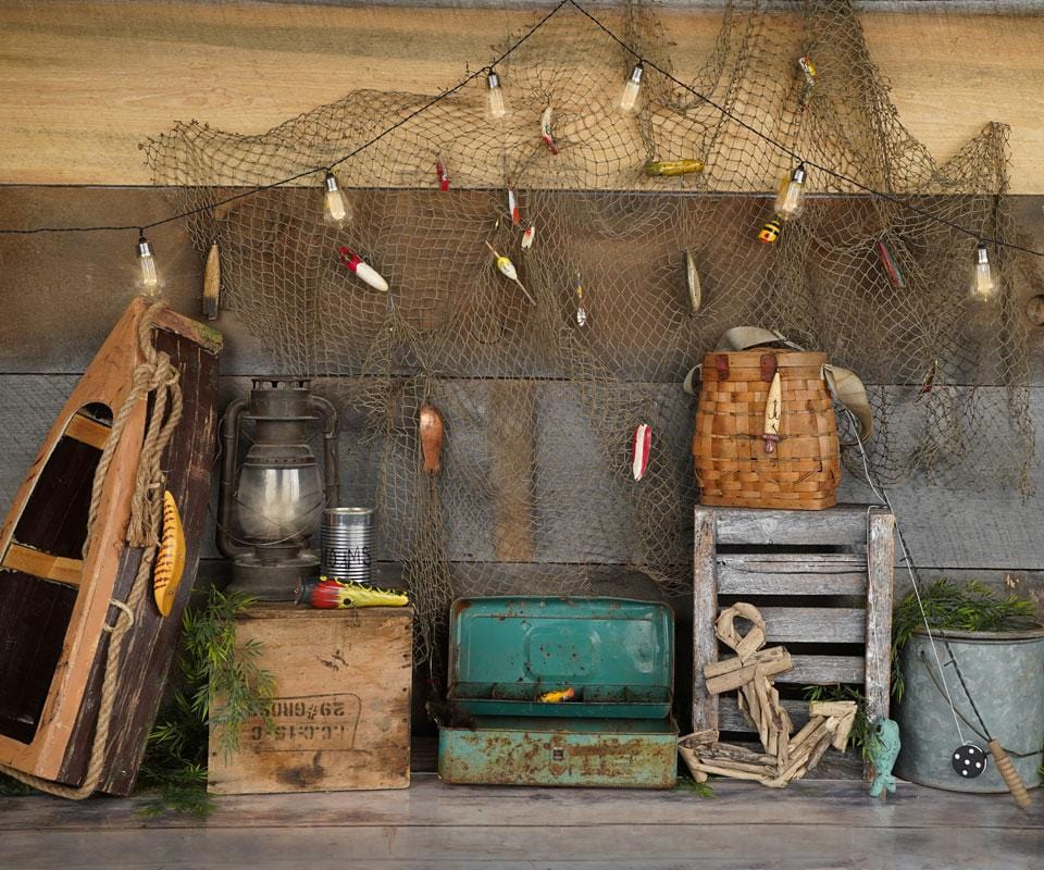 Kate Go Fishing Children Backdrop for Photography Designed By Arica Kirby