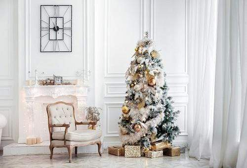 Katebackdrop£ºKate Christmas Trees Decoration White Room Backdrop for Photography