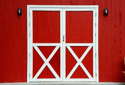 Katebackdrop:Kate Autumn Granary Red Doors Backdrop for Photography