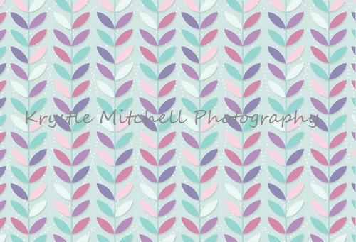 Load image into Gallery viewer, Kate Seamless Leaves Pattern for Girls Backdrop Designed By Krystle Mitchell Photography