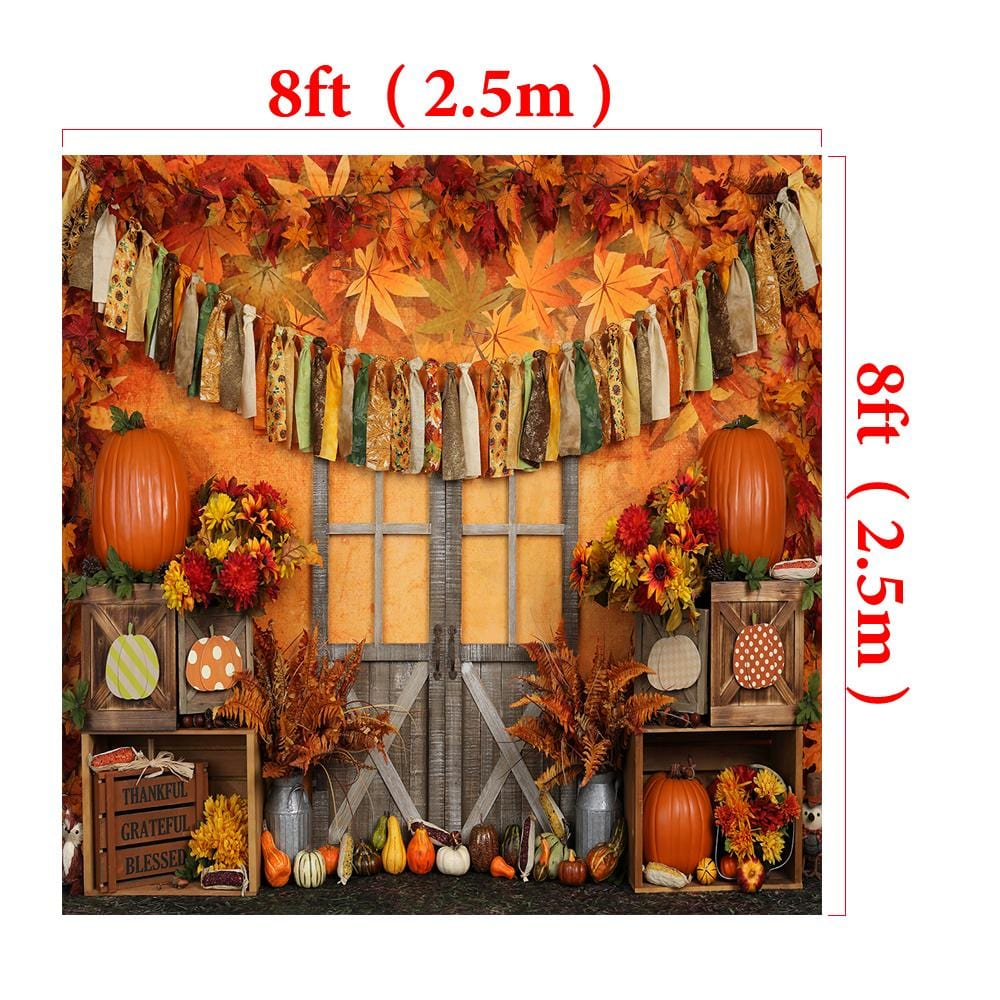 Load image into Gallery viewer, Katebackdrop:Kate Autumn Harvest Thanksgiving Backdrop for Photography