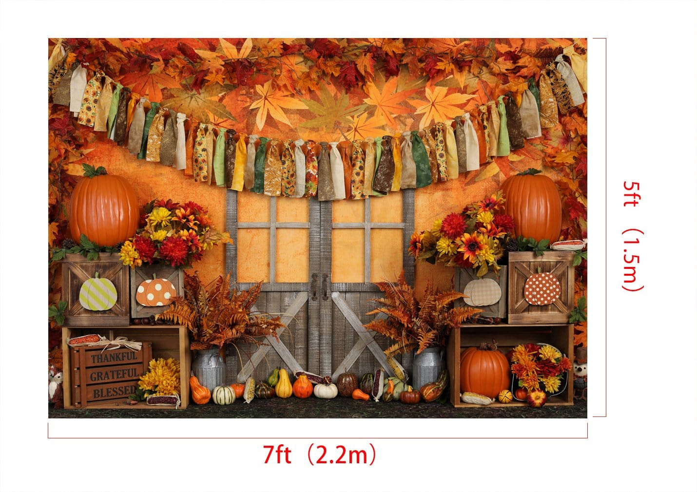 Load image into Gallery viewer, Kate Autumn Harvest Thanksgiving Backdrop for Photography