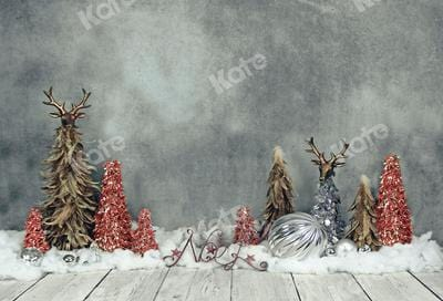 Kate Glamour Red Christmas Vintage Backdrop Designed by Amanda Moffatt