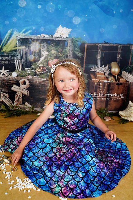 Kate Under the Sea with Fish Backdrops Designed by Arica Kirby