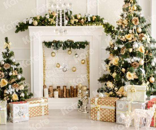 Load image into Gallery viewer, Katebackdrop£ºKate Christmas Decorations Presents Fireplace Backdrop