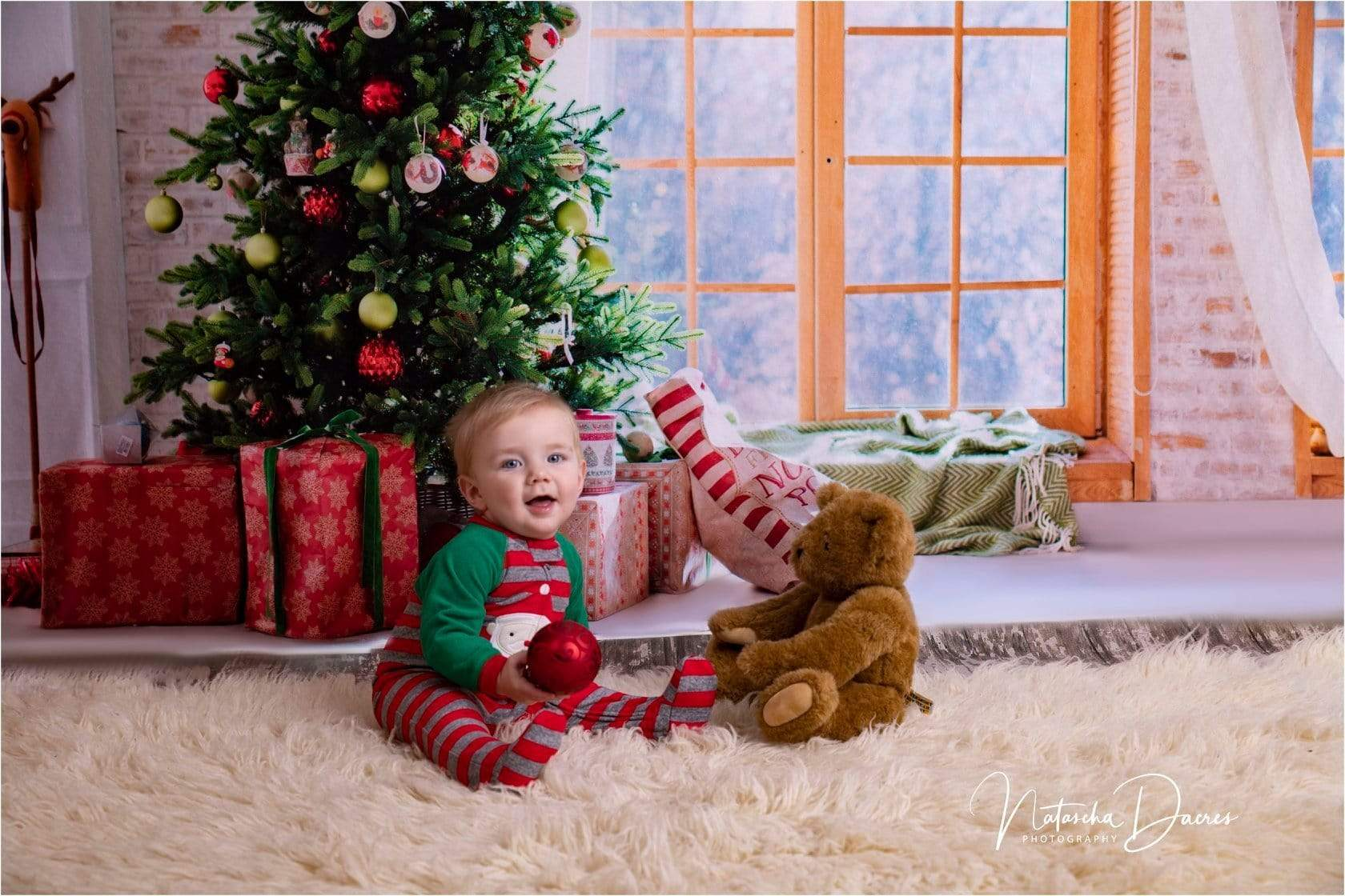 Load image into Gallery viewer, Katebackdrop£ºKate Christmas Gifts Room Decoration Window View Backdrop